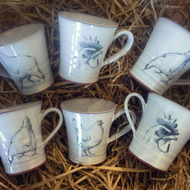 Here are some new hicken mugs Some of my favorithellip