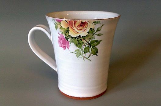 kaffekopp med rososr